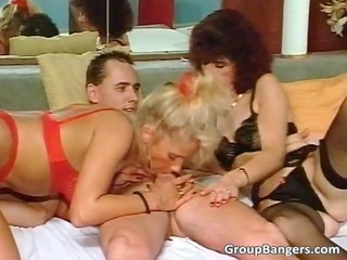 blonde and redhead mamma got fucked