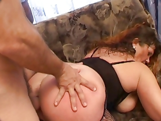 big beautiful woman mature on couch