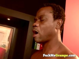 kim drilled by old black grandpa