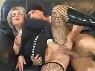 hawt golden-haired euro mature banging in boots