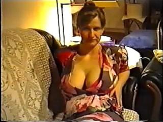 wife flashing big titties in a bra