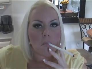 hot busty blond milf smokin solo