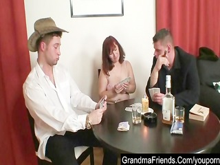 granny plays poker and acquires drilled