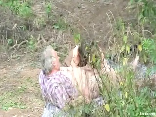 outdoor older pair sex