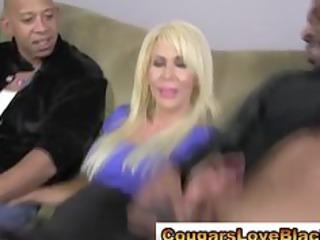 obscene interracial cougar in nylons