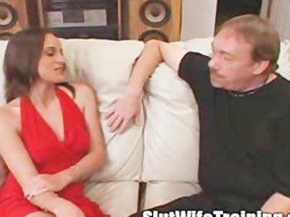 voyeur husband sends wife to slut training