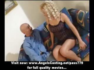 hawt golden-haired milf as bride does irrumation