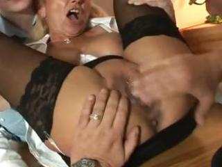 german milf in anal action with 5 guys
