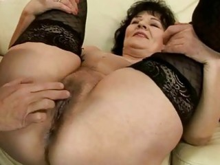 horny granny getting fucked pretty hard