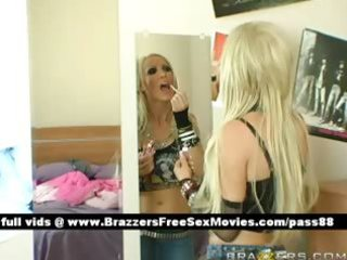 older breasty blonde doxy goes in her idols room
