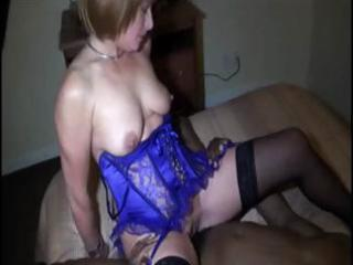 blonde wife does the dirty with a large black