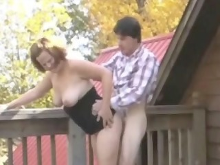 corpulent redhead-mother id like to fuck outdoors