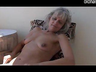 nasty older mature masturbating with toy