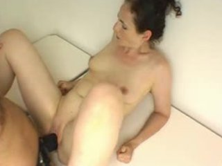 creaming wife gets a big darksome strap-on fuck
