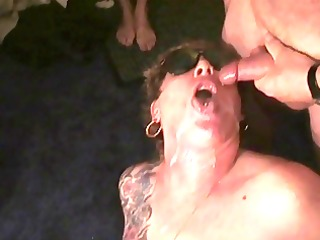 semen on her face! rona takes some more. next