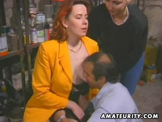 redhead amateur milf sucks and copulates with