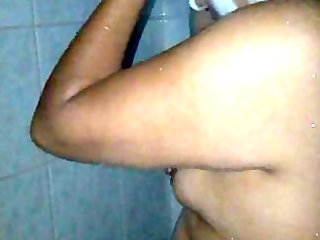 wife mexicana in shower