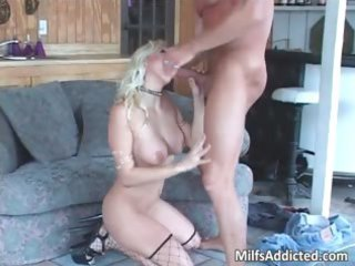 superb golden-haired sexy mother i smokes large