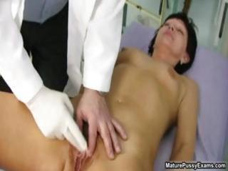 old doctor inspecting a hairy mature mom part5