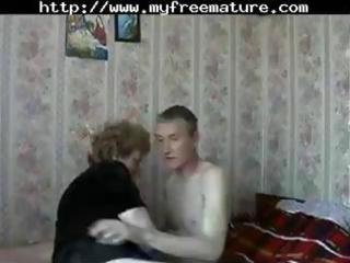 mature russian mama receives a juvenile dude to