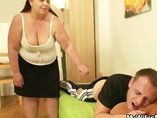 while his wife away he is nails her corpulent