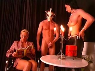 naughty older teacher and lovely slaves on side