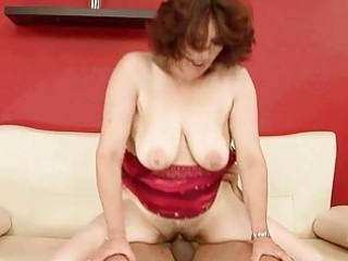lusty busty grandma enjoys hard fucking