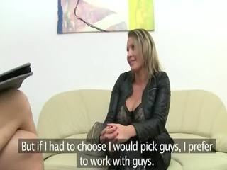 mature pornstar fucking on leather couch