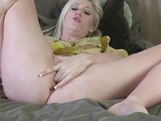 lusty blond mature lady pokes her hungry orgasmic
