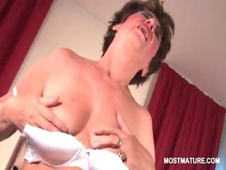 undressed bitchy mature masturbating her unshaved