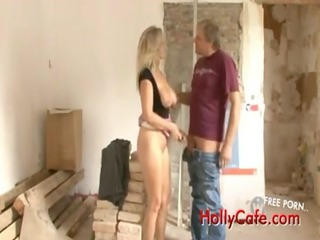 pierced busty german woman drilled and