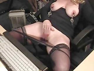 big and giant white pierced exercised milf