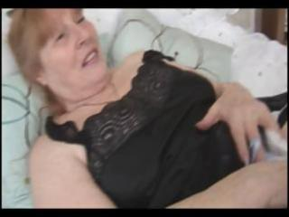 breasty overweight granny rubs her unshaved