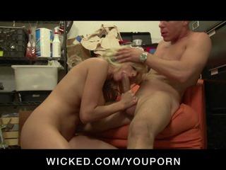 big-tit blonde slut girlfriend sucks and fucks