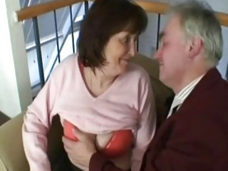 old grandfather fuck this excited granny whore