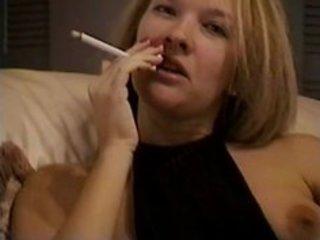 hot milf blonde smokey tease