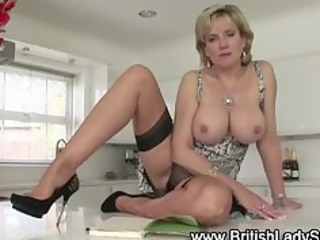 lustful older british babe shows off