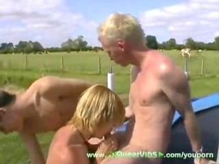 2 twinks & a trampoline