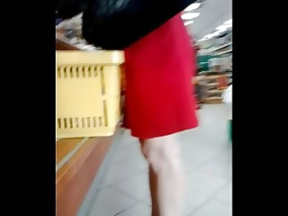 candid aged feet in pums at the store