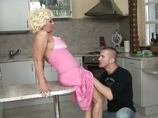 sexy granny riding young cock