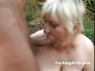 horny fat granny oral-service and fucked by the