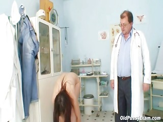karin acquires speculum inserted deep inside her