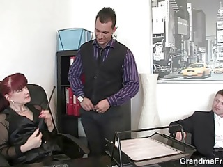 office doxy pleases two cocks