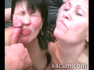 dirty cougars get their face creamed up in freaky