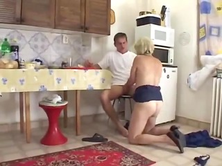 mommy in the kitchen