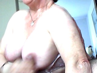 breasty mature wench tit jerk off