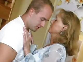 pretty mommy bonks with boy
