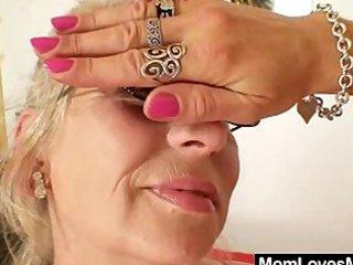 well-endowed grandma penetrates a mother i