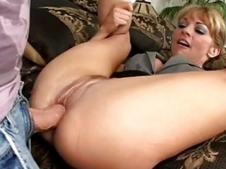 stunning blonde milf with sexy booty gets fucked