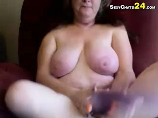 grandma found my pink sex-toy tryout